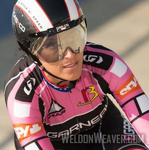 Cheryl Fuller- Muller winding up to fly. 2014 TrackNats Omnium Rock Hill. Photo by Weldon Weaver.