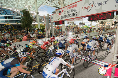The  2014 National Criterium Champioship field leaves High Point Station