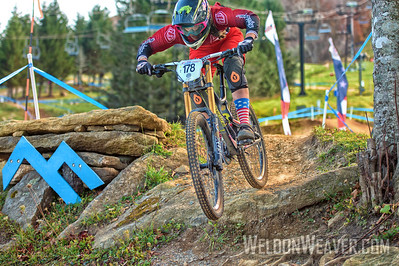 Ariana Altier wins the 2014 DII Collegiate Mountain Bike National title at Beech Mountain.