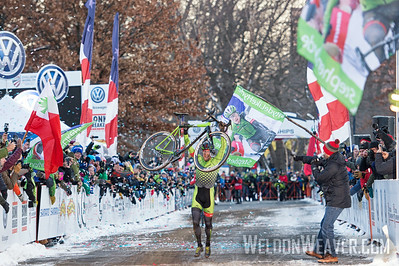 Stephen Hyde wins the 2017 USA Cyclo-cross National Championship.