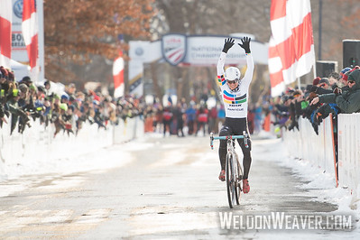 Winner Katherine COMPTON. Elite Women .2017CXNats. Photo by Weldon Weaver.