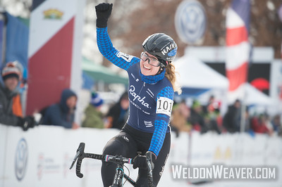 Winner Ellen NOBLE.Women U23.2017CXNats. Photo by Weldon Weaver.
