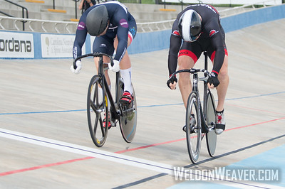 M 40-44 Sprints. Eric SWAIDNER  (right) bests Lee POVEY (left) in three.