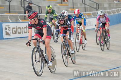 W 55+ Points Race Winner Claire OLSEN