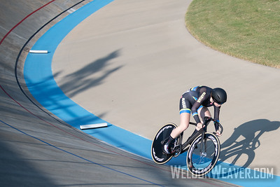 202, MCDADE, Hannah, MARIAN UNIVERSITY. 2019 USA Cycling Collegiate Track Nationals. Rock Hill, SC.  Photo by Weldon Weaver.