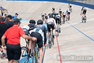 Mens Points Heats. . 2019 USA Cycling Collegiate Track Nationals. Rock Hill, SC.  Photo by Weldon Weaver.