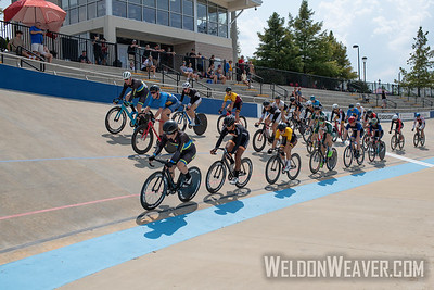 Mens Points Heats. 2019 USA Cycling Collegiate Track Nationals. Rock Hill, SC.  Photo by Weldon Weaver.