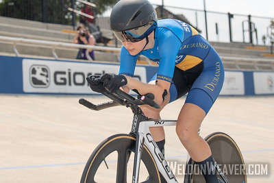 PAYER, Kira. 2019 USA Cycling Collegiate Track Nationals. Rock Hill, SC.  Photo by Weldon Weaver.