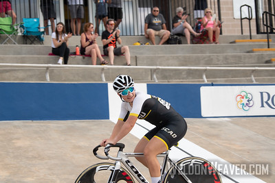 Scratch. 2019 USA Cycling Collegiate Track Nationals. Rock Hill, SC.  Photo by Weldon Weaver.