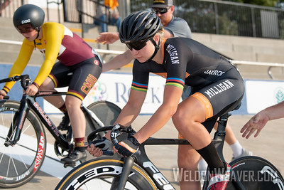 Milligan. 2019 USA Cycling Collegiate Track Nationals. Rock Hill, SC.  Photo by Weldon Weaver.