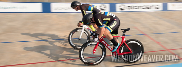 Marian. 2019 USA Cycling Collegiate Track Nationals. Rock Hill, SC.  Photo by Weldon Weaver.