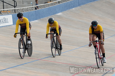 COLORADO MESA UNIVERSITY. 2019 USA Cycling Collegiate Track Nationals. Rock Hill, SC.  Photo by Weldon Weaver.