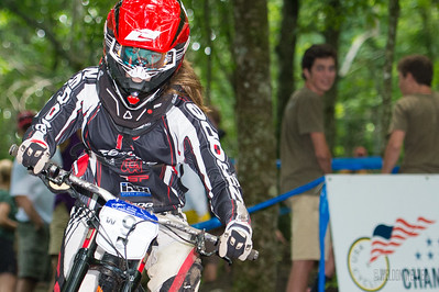 2012 USACycling Gravity Nationals.  #9 Taylor Allison ROXBURY,NY DH Pro W Photo by Weldon Weaver.