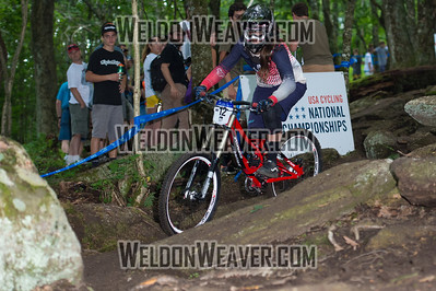 2012 USACycling Gravity Nationals.  #12 Katie Holden SCOTTS VALLEY,CA DH Pro W Photo by Weldon Weaver.