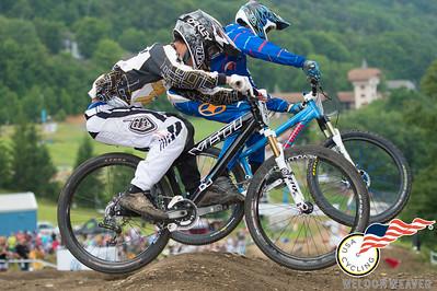 #79R Steven Penland SUMMERVILLE,SC , #73R Brandon Hopkins COLUMBIA,KY 2012 USACycling Gravity Nationals.  Photo by Weldon Weaver.