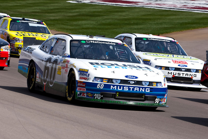 LAS VEGAS, NV - MAR 05, 2011:  Carl Edwards (60) brings his Fastenal Ford through the turns during the Sams Town 300 race at the Las Vegas Motor Speedway in Las Vegas, NV.