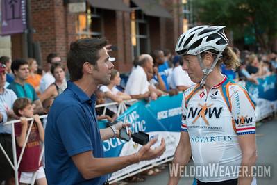 Alison Powers celebrates the win with Robbie Ventura. .  2013 Winston Salem Classic.  Photo by Weldon Weaver.