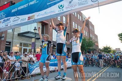 Alison Powers celebrates the win.  2013 Winston Salem Classic.  Photo by Weldon Weaver.