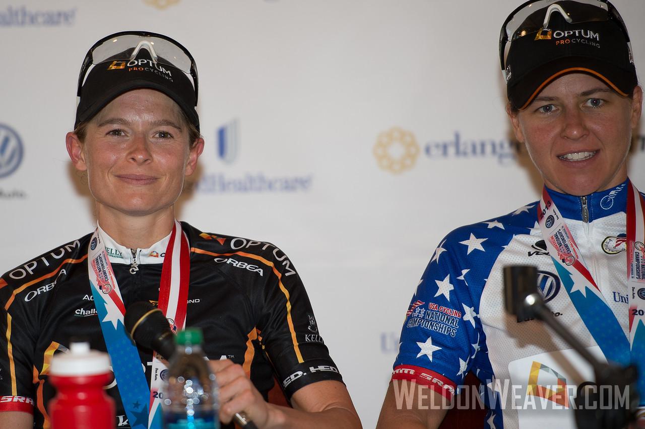 2013 US Pros Chattanooga.  Team Optum.  Lauren Hall, Jade Wilcoxson.   Photo by Weldon Weaver.