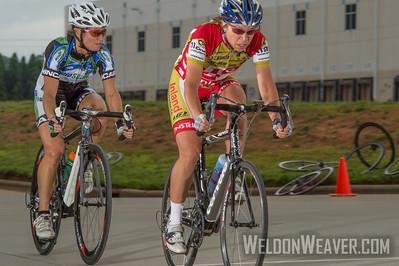 Amie Krasnozon.  2013 NC State Crit Championships.  Kernersville, NC.  Photo by Weldon Weaver.