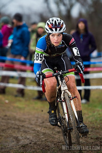 Allison Arensman.  Pepper Palace/Spin-Tech p/b ABRC.  2012 NCCX11 Hendersonville. UCI Elite Women.  Photo by Weldon Weaver.