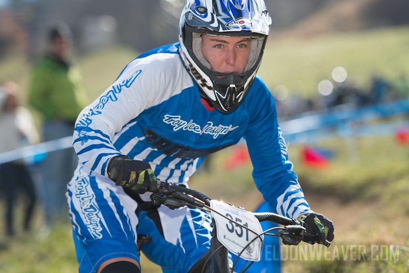 Dual Slalom Division 1 and Division 2, Men and Women.  USA Cycling Collegiate Mountain Bike National Championships<br /> Oct. 27 - Beech Mountain, NC.  Photo by Weldon Weaver.