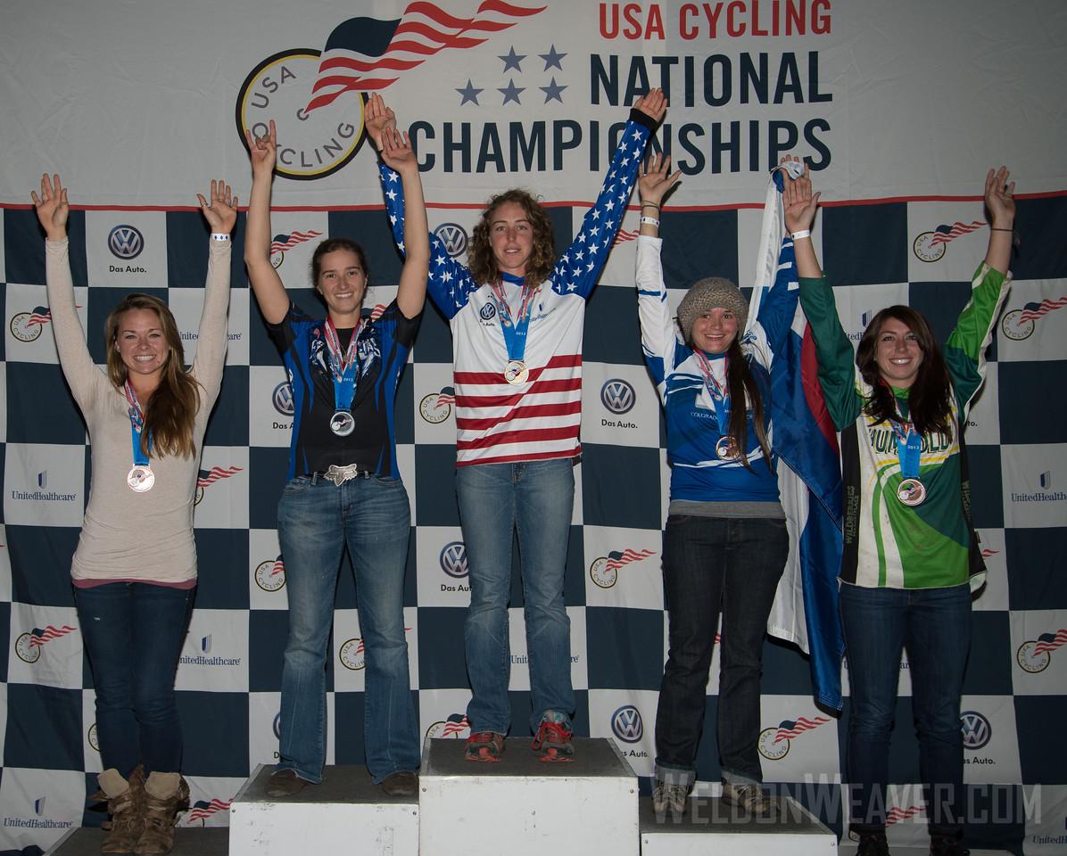 Awards.  2013 Collegiate Mountain Bike National Championships.  Beech Mtn, NC.  October 26, 2013.  Photo by Weldon Weaver.