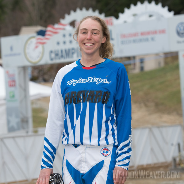 Downhill Division 1 and Division 2 Women.  USA Cycling Collegiate Mountain Bike National Championships<br /> Oct. 26 - Beech Mountain, NC.  Photo by Weldon Weaver.