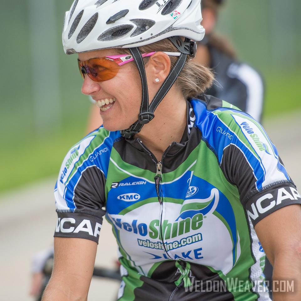 Sara Tussey.  2013 NC State Crit Championships.  Kernersville, NC.  Photo by Weldon Weaver.