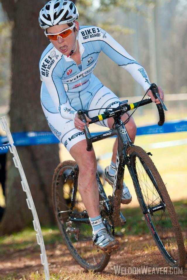 Kimberly Bailey.  NCCX State Championships. Winston Salem, NC Dec 18, 2011. Photo by Weldon Weaver