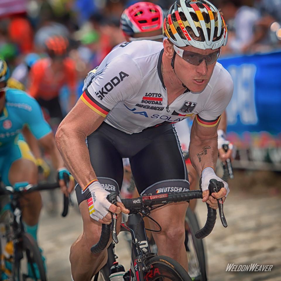 André Greipel. Richmond 2015 World Championships.  Photo by Weldon Weaver.