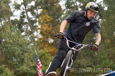 Brandon Loupos, third place. 2019 BMX Freestyle UCI C1. Cary, NC. USA. Photo by Weldon Weaver.