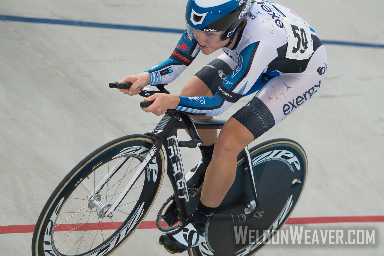 HIGGINS Cari 225441 Exergy Twenty12 Boulder CO.  2012 USA Cycling Elite Omnium Track Natoinal Championships. August 18, 2012. Rock Hill, S.C.  Photo by Weldon Weaver.