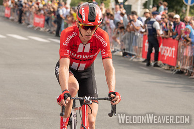 Chad Haga (USA). 2019 Tour de France. Stage 1 Brussels. Photo by Weldon Weaver.