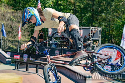 Chelsea Wolfe bronze medal. 2019 USA Cycling Freestyle BMX  Nationals. Cary, NC. Photo by Weldon Weaver.