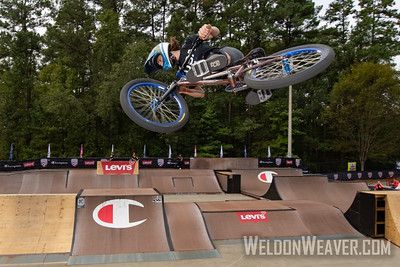 Chelsea Wolfe, 3rd place.  2019 BMX Freestyle Continental Championships.  Cary, NC. USA. Photo by Weldon Weaver.