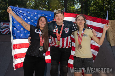 Hannah Roberts, National Champion. 2019 USA Cycling Freestyle BMX  Nationals. Cary, NC. Photo by Weldon Weaver.