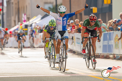 Coryn Rivera wins the sprint for the 2014 National Crierium Championship in Highpoint.