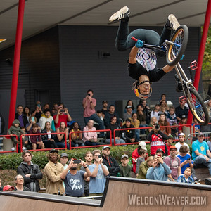 Daniel Dhers (VNZ), third place. 2019 BMX Freestyle Continental Championships.  Cary, NC. USA. Photo by Weldon Weaver.