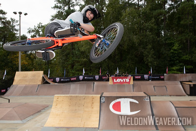 Hannah Roberts, first place. 2019 BMX Freestyle Continental Championships.  Cary, NC. USA. Photo by Weldon Weaver.