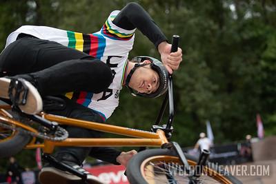 Justin Dowell, second place. 2019 BMX Freestyle Continental Championships.  Cary, NC. USA. Photo by Weldon Weaver.