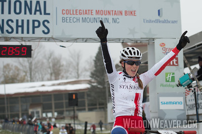 USA Cycling Collegiate Mountain Bike National Championships Oct. 25-27 - Beech Mountain, NC.  Division I Women.  Photo by Weldon Weaver.