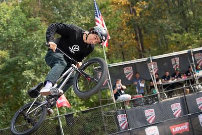 Kevin Peraza, first place. 2019 BMX Freestyle UCI C1. Cary, NC. USA. Photo by Weldon Weaver.