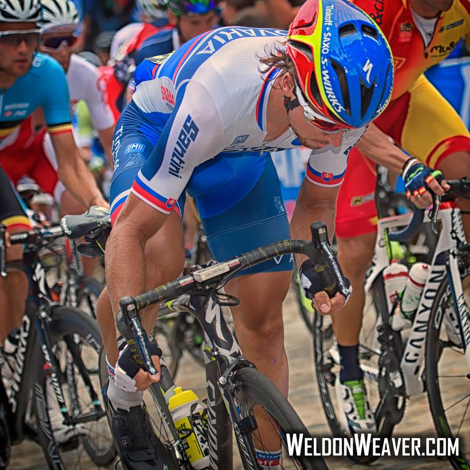 Peter Sagan. Richmond 2015 World Championships.  Photo by Weldon Weaver.