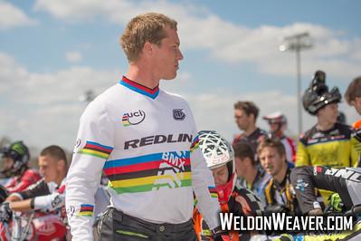 Sam Willoughby.  Novant Health BMX Supercross March, 2015.  Photo by Weldon Weaver.