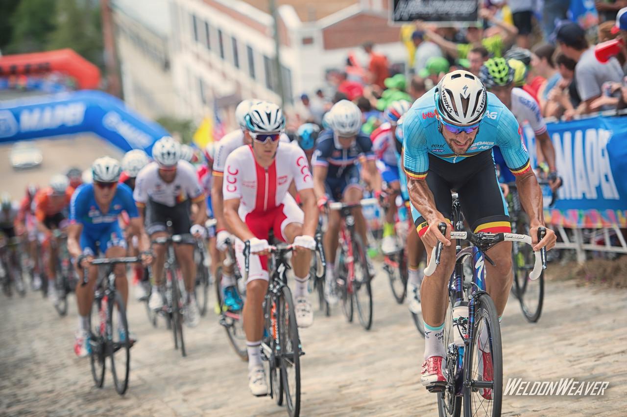 Tom Boonen.  Richmond 2015 World Championships.  Photo by Weldon Weaver.
