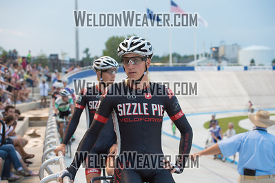 Photo by Weldon Weaver. Zachary Kovalcik of Portland , OR (Sizzle Pie Cycling) at the start of the points race. 2012 USA Cycling Elite Omnium Track National  Championships. August 17, 2012. Rock Hill, S.C.