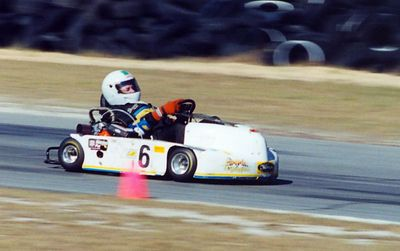 Southern Road Racing Series, Roebling Road raceway, Febuary 2, 2002, Taken with Nikon F5 on Fuji Film ISO 400, Scanned from print