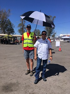 Sonora Rally 2018 - Day 1 - Organization VIP Rodolpho Fernandez with his umbrella girl Rich