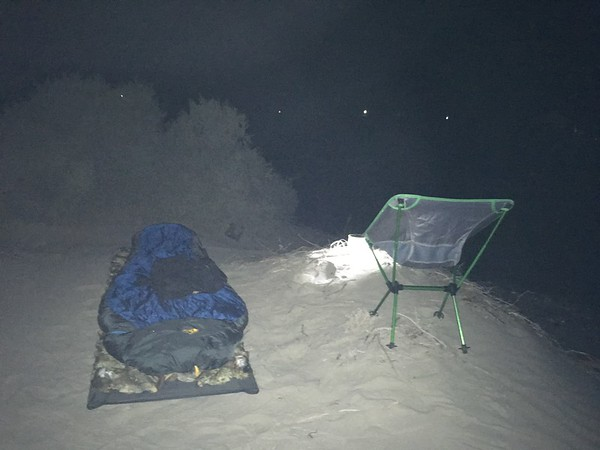 Sonora Rally 2018 - Day 3 - My personal dune bivouac in Puerto Lobos for 2 hours sleep this night